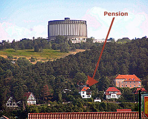 Panorama-Museum and the Pension = Bed and Breakfast in Bad Frankenhausen